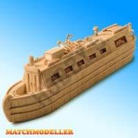 Match Modeller - Canal Narrow Boat Matchstick Kit # MM26